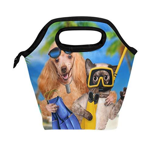 Use7 - Bolsa de Almuerzo con Aislante para Perro, Cachorro, Gato, para...