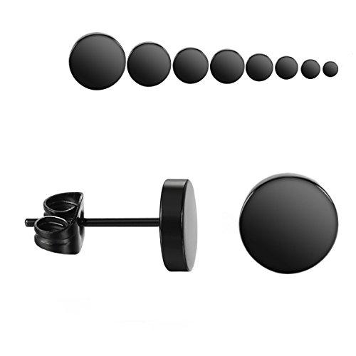 8 pares de pendientes de 3-10 mm de acero inoxidable para hombre o mujer, para dilatación falsa, 8 Paar
