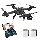 Upgraded S5C Drone with Camera for Adults HD 2K Camera Live Video Drone for Beginners w/ Voice Control, Gesture Control, Altitude Hold, Headless Mode, Compatible w/VR Glasses