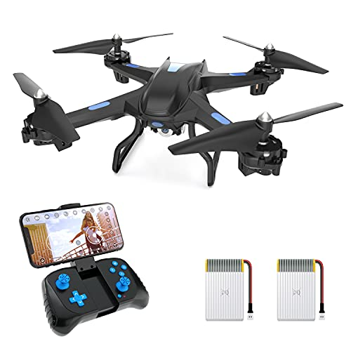 Upgraded S5C Drone with Camera for Adults HD 2K Camera Live Video Drone for Beginners w/ Voice...