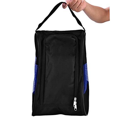Cuque Bolso de los Zapatos de Golf, Bolso de Nylon de los Zapatos, Almacenamiento de los Zapatos de Golf Que almacena los Zapatos para los Deportes(Black Blue)