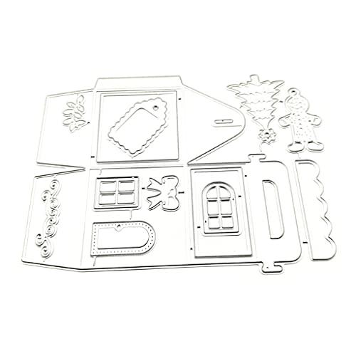 Troqueles para hacer tarjetas, caja de árbol de Navidad, troqueles de corte de metal, plantilla de álbum de recortes, tarjeta de papel, molde para decoración en relieve