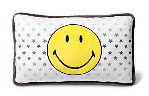 NICI 40725 - Kissen Smiley Gelb/Sterne rechteckig 43x25cm