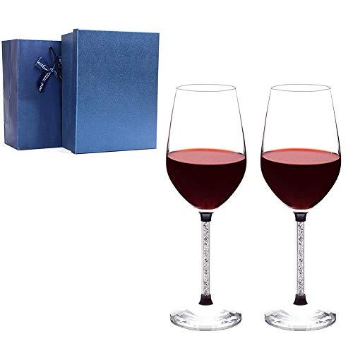 BAIVIT Copas de Vino Rojo de Diamante de Agua de Relleno Europeo,...