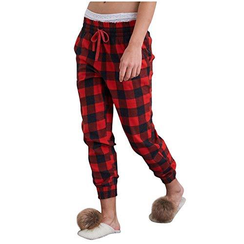Christmas Pajamas Pants For Womens, Women Buffalo Plaid Pajama Pants Sleepwear Christmas Pants