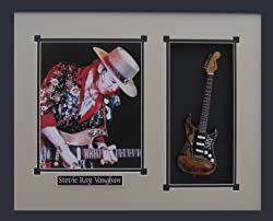STEVIE RAY VAUGHAN Guitar Shadowbox Shadow Box Frame SRV