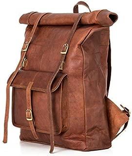 Berliner Bags Leeds XL Leather Backpack Laptop Rucksack Men Women Retro Brown