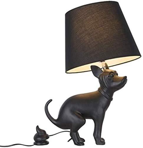 Cuerpo de la lámpara de resina de habitaciones del perrito de la tabla de la lámpara de suelo Tire perro de la lámpara lámpara de pared creativa del impulso decoración de la tabla de la lámpara modern
