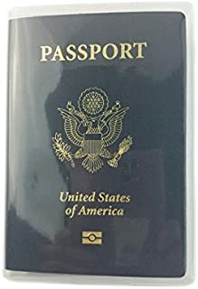 Sunny Hill Passport Cover Water-prove Plastic Passport Protector (2 PCs Clear)