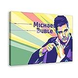 Sänger Michael Buble Star Poster 3 Leinwand Poster