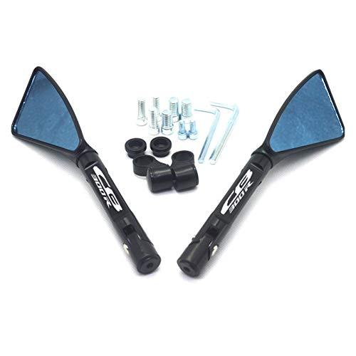 Espejos Moto Espejo Universal de Motocicleta CNC retrovisor Lateral para Honda CB300R CB-300R (Color : Black)