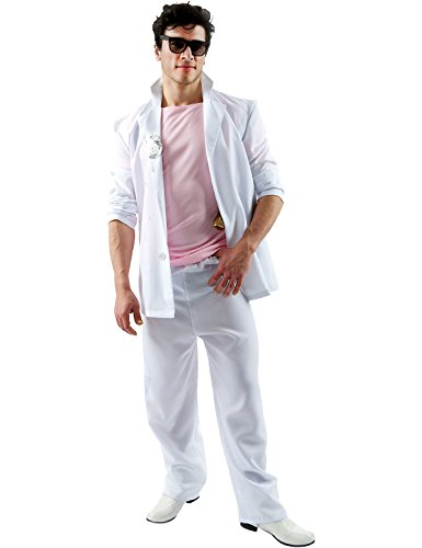 Adult Florida Detective (Pink and White) Miami Vice Costume for Men