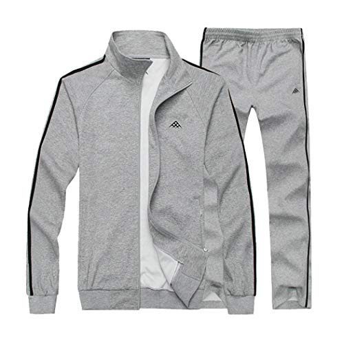 Mens Outfits Winter F/_Gotal Solid Color Casual One Piece Romper Casual Zipper Long Sleeve Hoodie Jumpsuit Overalls