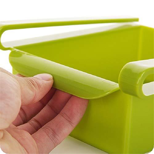 4 Farben Kunststoff, Küchenkühlschrank Kühlschrank Lagerregal Gefrierschrank Regal Küche Platzsparende Organisation (2)