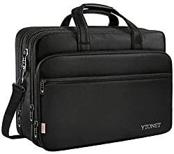 top rated 17-inch laptop bag, travel bag with organizer, large expandable hybrid shoulder bag, water … 2021