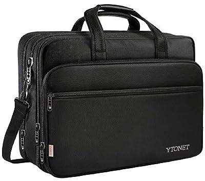 17 inch Laptop Bag, Travel Briefcase with Organizer, Expandable Large Hybrid Shoulder Bag
