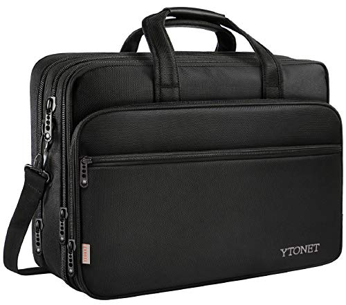 Multi-functional Compartments: The roomy laptop bag offers independent spaces for your essentials. 2 front zipper pockets are for pens, keys, notebooks, cables, mouse and other small items. 1 main compartment with foam padded sleeve fits most 17 15.6...