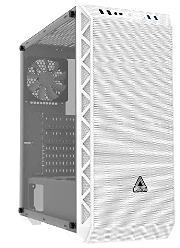 NO DOUBT Montech AIR 900 MESH Black/ATX Mid-Tower/High and Max Airflow/Computer Gaming Case/EATX, ATX, Micro ATX, Mini ITX/Full Front Meshes/Unique Mesh Side Panel/Tempered Glass Side Panel (White)