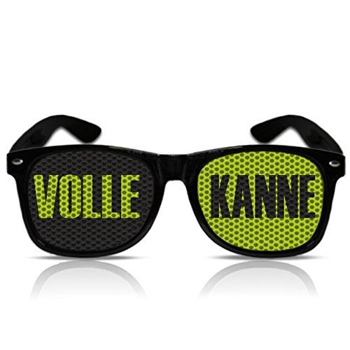 beklebte Sonnenbrille Atzenbrille mit Motiv Nerdbrille Porno Partybrille Motiv Volle Kanne mygafas (NERD schwarz)