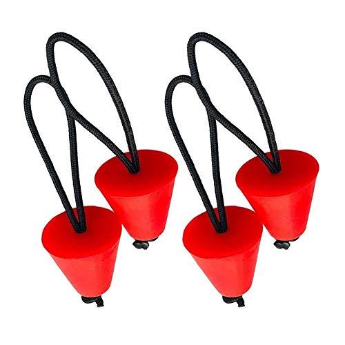 youyu6-2o521 Kayac Accesorios Barco Mejor Universal de Silicona Kayak Imbornal Plug Kit Canoa Orificios de Drenaje tapón tapón Pieza de Recambio (Color : Red)