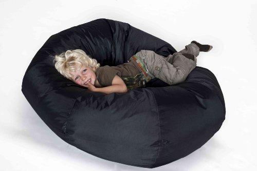 IHP Fritz Sitzsack 'Donut', befüllt, Indoor/Outdoor, Durchmesser 110 cm, Farbe Schwarz