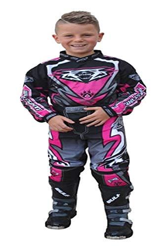 Niños Niños Motociclismo Racing Moda Wulfsport Gear Firestorm Cub Camisetas de carrera y pantalones de carrera Traje de motocross
