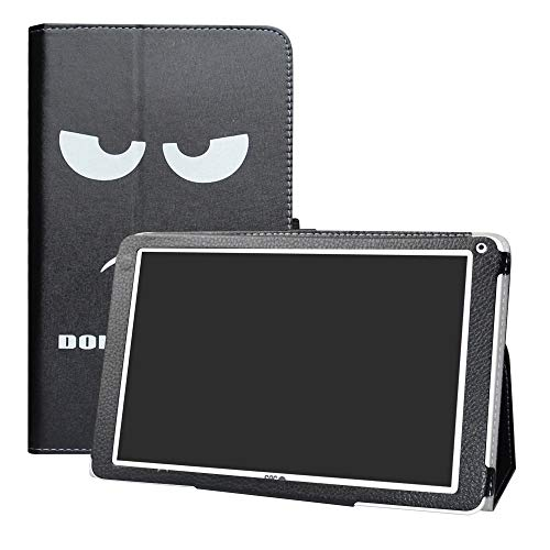 LFDZ SPC Heaven Funda, Soporte Cuero con Slim PU Funda Caso Case para 10.1' SPC Heaven Tablet,Don't Touch