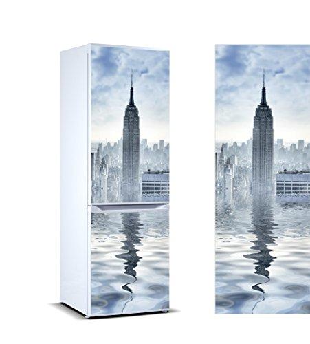 Oedim – Adesivi in Vinile per Frigorifero Torre York | Diverse Misure 200 x 70 cm | Adesivo Resistente e di Facile Applicazione | Adesivo Decorativo dal Design Elegante