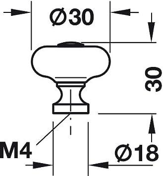 20 St/ück Gedotec Design M/öbelgriffe Messing braun durchgerieben Knopf /Ø 30 mm M/öbel-Knauf mit Schrauben H10043 Porzellan wei/ß M/öbelkn/öpfe Vintage Antik Schrankknopf f/ür Schubladen