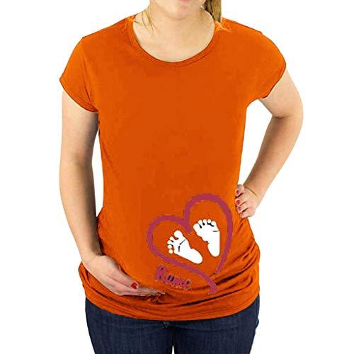 Allence Witzige Lustige Umstandsmode T Shirt by Sweet Little Baby Loading BabyfüßE - Coole Schwangerschaftsmode Mit Aufdruck Mutterschaft Top Stillen Umstandsshirt