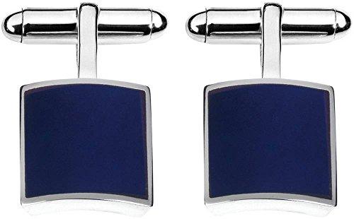 Orton West Argent/Bleu Sterling Silver Lapis Lazuli Carré boutons de manchette de