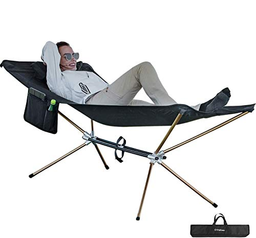 KingCamp Ultralight Folding Camping Cot Hammock.