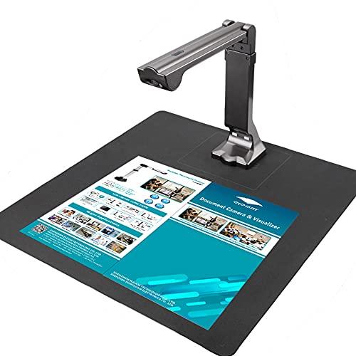 eloamドキュメントスキャナー 書画カメラ 1000万画素 最大 A3 サイズ対応ブックスキャナー 非破壊 非接触自動平坦化 LEDライト付き 多言語OCR機能 USB書画カメラ (S600)