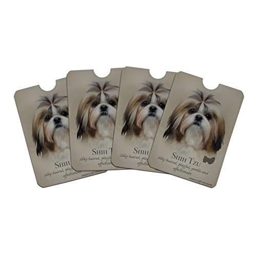 Shih Tzu Dog Breed Credit Card RFID Blocker Holder Protector Wallet Purse Sleeves Set of 4