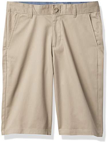 Chaps Boys' Toddler School Uniform Flat Front Twill Short, Khaki, 4T