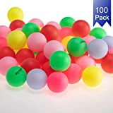KEVENZ Beer Ping Pong Balls Assorted Color Plastic Ball (100-Pack)
