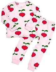 Unifriend 薄手の長袖 男児 女児 キッズ パジャマ オーガニック 綿100% 子供 ルームウェア ねまき 上下セット