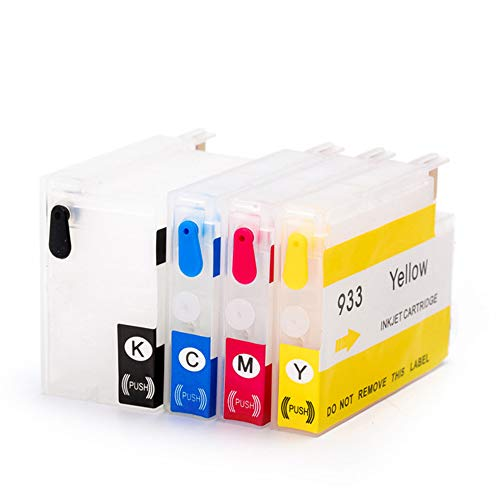 Karl Aiken 4X Cartucho de tinta recargable HP 932 933 XL compatible con HP OfficeJet 6700 7510 7612 6600 6100 7110 7610