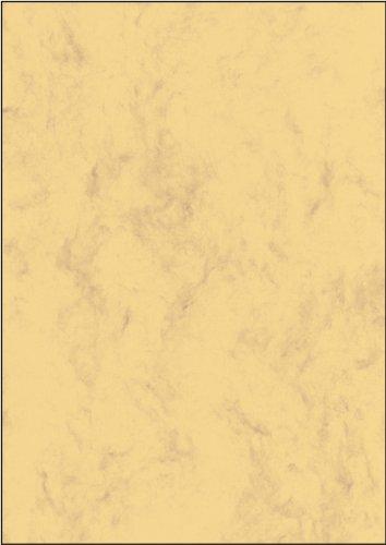 SIGEL DP262 Papel de cartas, 21 x 29,7 cm, 90g/m², mármol arena castaño claro, 100 hojas