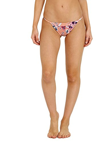 Tori Praver Lacie Smocked Cheeky Bikini Bottom Bali Sky Pink Dun