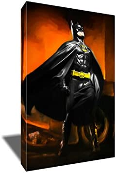 Michael Keaton in 1989 BATMAN Artwork Painting on CANVAS Cheap Poster Our shop most popular