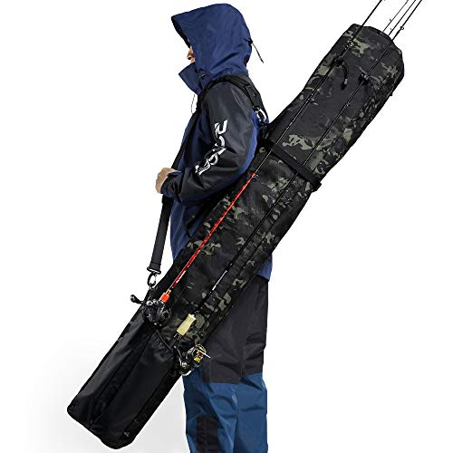 Rodeel Fishing Rod Bag - Premium & Large & Portable - Fishing Pole Case for Travel