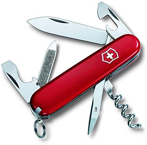 Victorinox Taschenmesser Sportsman (13 Funktionen, Gr. Klinge, Nagelfeile, Korkenzieher) rot