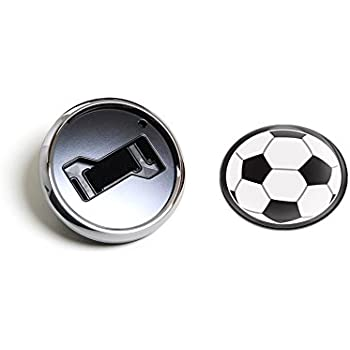 3 Magnetic Grill Badge//UV Stable /& Weather-Proof//Works Grill Badge Holder CD0505 GoBadges SPORTS SOCCER BALL