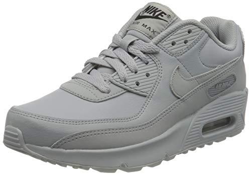 Nike Air MAX 90 LTR (GS), Zapatillas para Correr, Wolf Grey Wolf Grey Wolf Grey Black, 37.5 EU