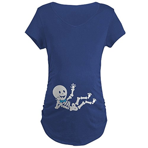 CafePress Pregnant Skeleton Baby Boy Maternity T Shirt...