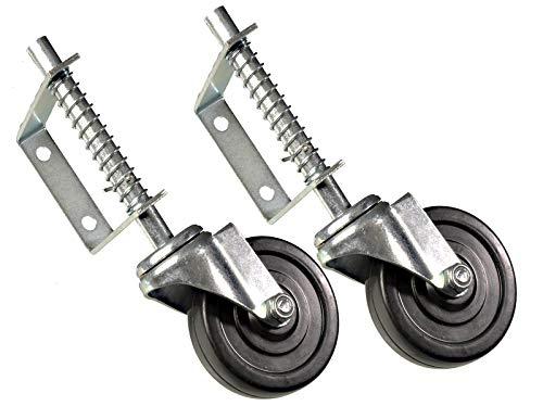 2 Stück Gefederte Laufrolle für Schiebetore 100 mm 57 kg Tragkraft