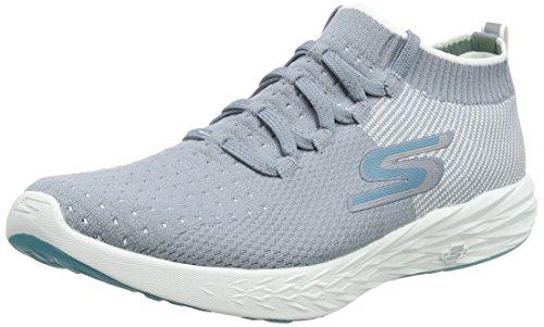 Skechers Womens GOrun 6 Gray/White 7 B