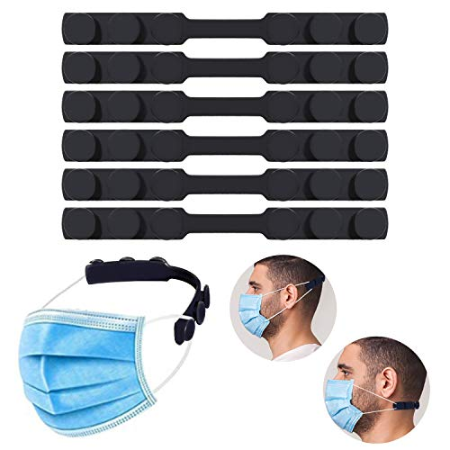Mask Extender, Silicone Extending Hook Belt Ear Strap Hook Mask Hook, Adjustable Anti-Slip Mask Holder for Relieve Long-time Wearing Ears