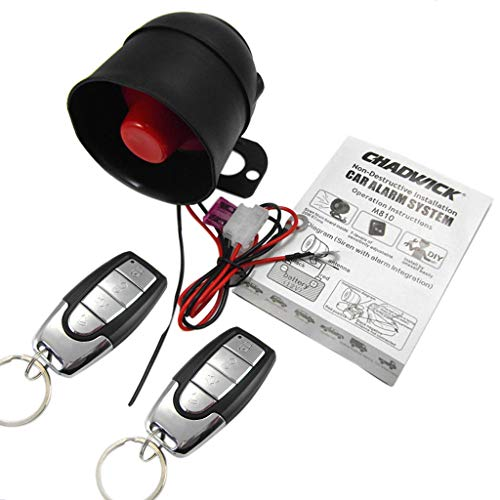 perfk Auto-Alarmanlage für Einbrecher Alarmanlage Autoschutz Schlüsselloser Diebstahlsicherung Sicherheitssystem